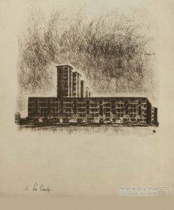 « Vue extérieure du camp de Drancy, lugubre et sordide. » © Mémorial de la Shoah